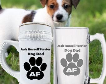 Bar Decor Beer dog print on tile Jack Russell terrier dog art coaster tile