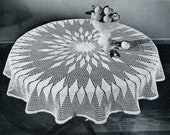 The Big Round Tablecloth Crochet Pattern by The American Thread Company Pattern PDF Digital Download