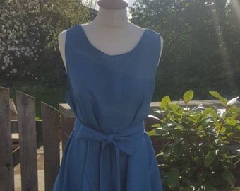 Handmade ruched Alice dress in teal