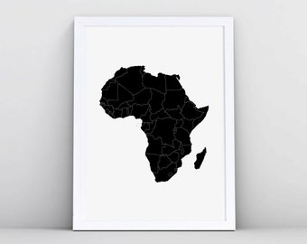 map of africa etsy