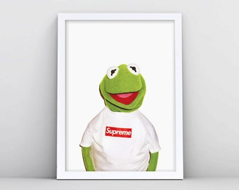 Kermit Supreme Poster Print The Frog Puppet Art Clothing In Shirt Accessories Wall