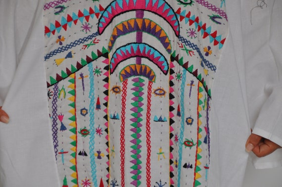 Bedouin cotton dress eccentric beach hand Egyptian Vintage Boho Tunic resorts embroidered colorful dress Summer dress dn8SxZw