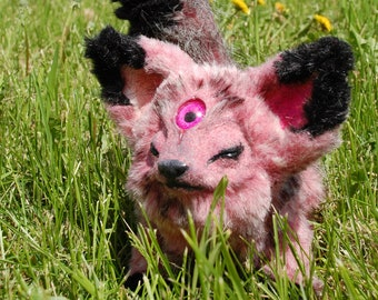 Fantasy ooak poseable third eye hybrid fox creature