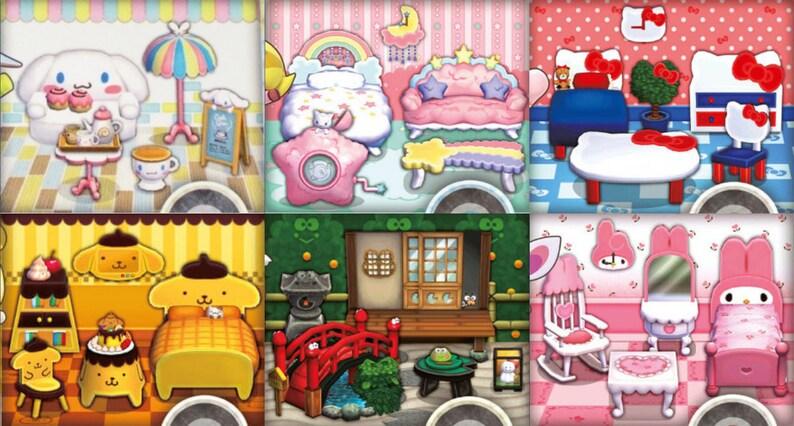 Animal Crossing New Leaf All 6 Sanrio Sets 20 Million Bells Etsy