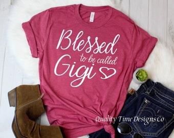 6fe84e04 Blessed to be called Gigi unisex jersey t-shirt- Trending t-shirt-  grandmother gift- Gigi shirt- Blessed Gigi