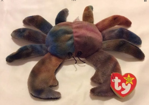 Ty Beanie Babies Claude the Crab Ty Dye w//error
