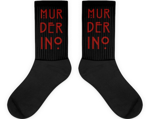 Murderino Socks, True Crime Gifts, My Favorite Murder Fans, Crime Junkie, Horror Story Clothing