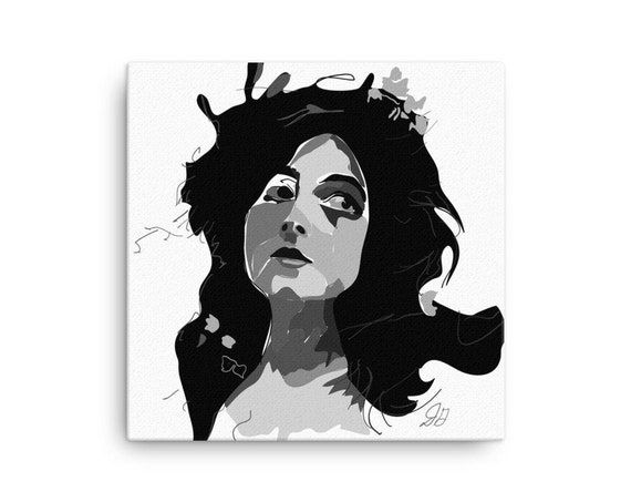 Gothic Artwork, Canvas Square Print, Aesthetic Horror Statement, Room Interior Staging