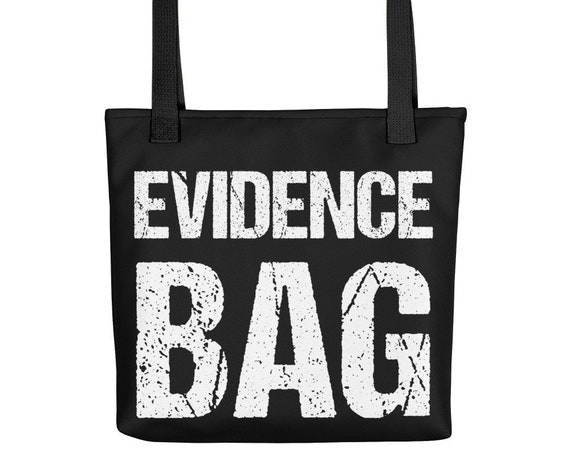 Evidence Tote, Reusable Shopping Bag for True Crime Fans, Detectives, Criminal Justice, Weird Purse, Grocery Sack