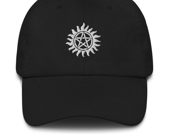 Supernatural Dad hat, Trucker Baseball Cap, Sam and Dean Winchester Brothers, Anti-possession Tattoo Symbol, Embroidered, Unisex