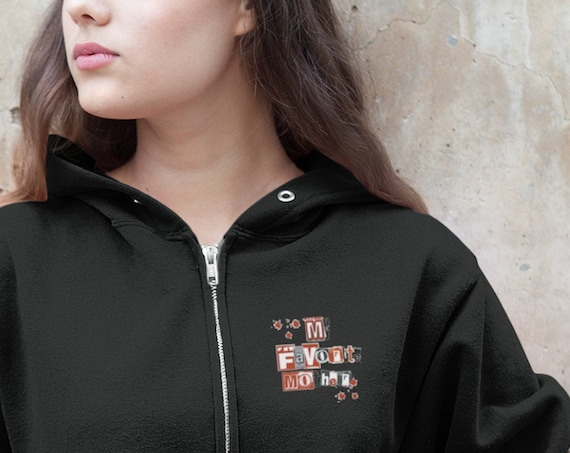 My Favorite Murder Hoodie for Mom, Lightweight Zipper Hoodie, Great Birthday Gift for Mother the True Crime Fan