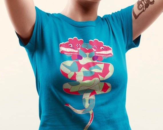 Quetzalcoatl Graphic T Shirt, Cryptid Dragon Art from Frenchtoastygood, Aztec Signs and Symbols