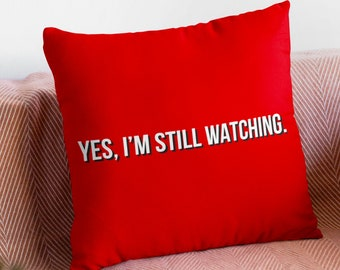 Netflix Pillow, Funny Square Cushion, Throw Pillows, Movie TV Lover Gift Ideas for Housewarming, Dorm Room