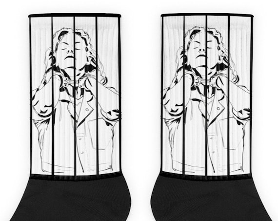 Aileen Wuornos Serial Killer Socks, True Crime Gift Memorabilia, Horror Novelty Merch Sokker