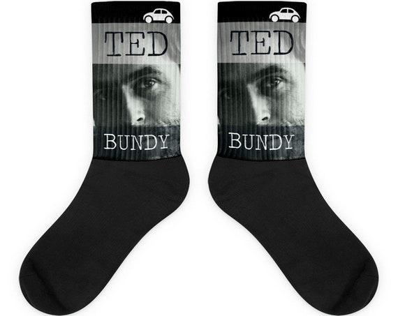 Ted Bundy Socks Serial Killer True Crime Gifts for Horror Fans, Cult Dark Humor Face Socks for Crime Junkies