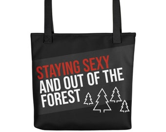 """My Favorite Murder Crime Podcast Tote bag, 15""""x15"""" Water resistant Totebag for Murderinos from Frenchtoastygood SSDGM MFM"""