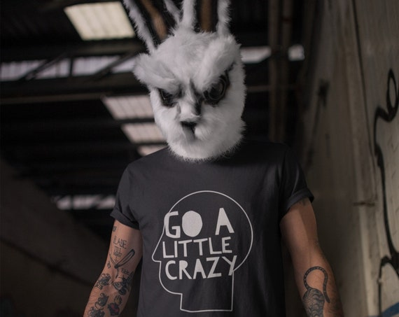 Go a little crazy Quote TShirt, Halloween Joker Shirt, Unique Graphic Tee from Frenchtoastygood, Premium BellaCanvas Brand