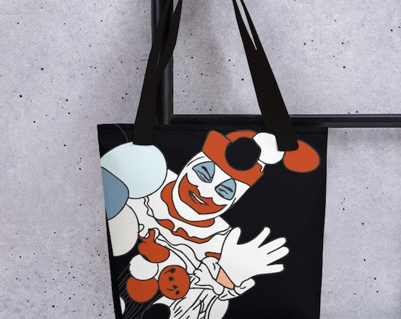 Pogo the Clown John Wayne Gacy Bag, True Crime Tote, Horror Serial Killers Pop Art