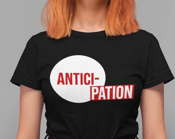 Anticipation Rocky Horror Shirt, Unisex Classic Black Tee, RHPS Cult Movie Fandom