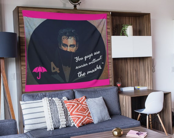 Umbrella Academy Wall Tapestry, Klaus Hargreeves Quote, Custom Art for Home, Dorm Room Decor