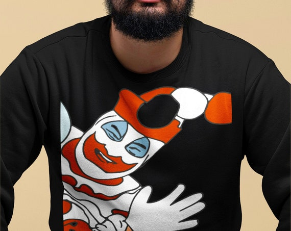 Pogo the Clown Sweatshirt, Serial Killer Memorabilia, John Wayne Gacy, Horror, Weird Creepy Crime Shirts