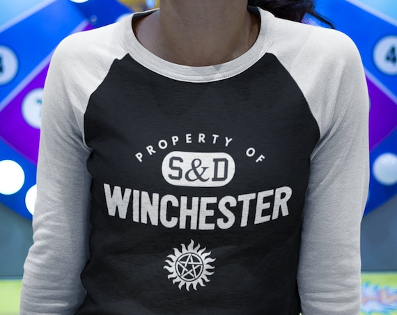 Supernatural Shirt, Raglan T with Sleeves, Baseball Style shirt, Unisex Fit, Sam and Dean Winchester