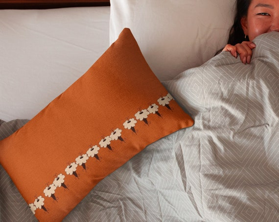 Burnt Orange Accent Pillow, Chair or Sofa Cushion, Fall Bedding and Home Decor