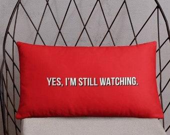 Netflix Pillow for Binge Watching Marathons, Funny Home Decor Accessories, Throw Pillows, Gift Ideas for Housewarming, Dorm Room
