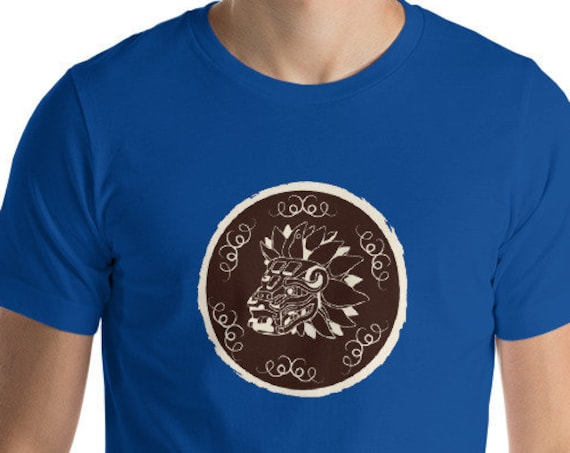 Quetzalcoatl Dragon Shirt, Aztec Mayan Art, Cryptid Fantasy Beast, Unisex Premium Tee
