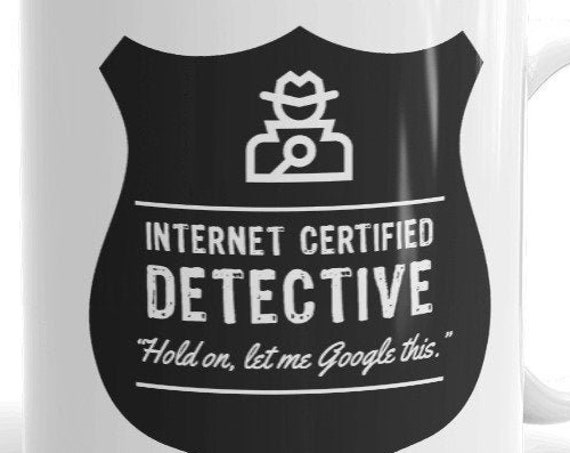 Detective Mug for True Crime Fans, Basically a Detective, My Favorite Murder, Funny Mugs for Crime Junkies
