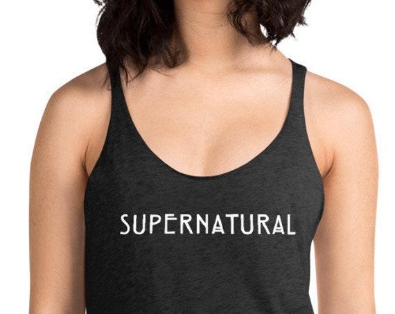 Supernatural Tank Top, Sam and Dean Shirt for Women, Racerback Tank TV Show