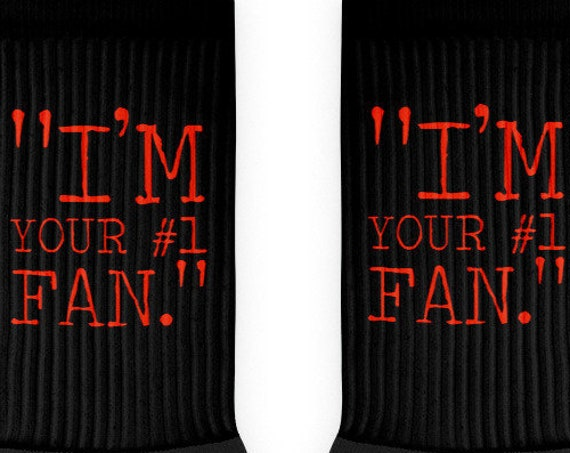 I'm Your Number 1 Fan Socks, Misery Socks, Horror Apparel, True Crime Gifts, King Fandom