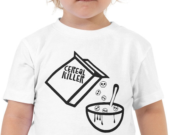 Cereal Killer Toddler Tshirt, Halloween Baby Costume, Funny Kids Shirts from Frenchtoastygood