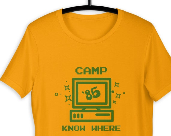 Camp Know Where '85 Shirt, Cute Vintage Tee, Awesome Tshirt for Women Men