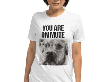 Funny Virtual Meeting Shirt, Online Zoom Conference Outfit, Tshirt Gift for Remote Coworker, Secret Santa