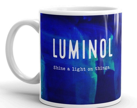 Luminol Forensics Mug, Crime Scene Coffee Cup, Detective Gifts, CSI, NCIS