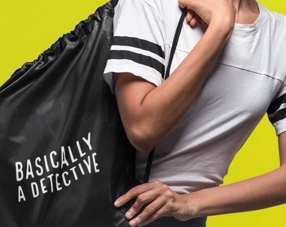 Basically a Detective Backpack, True Crime Junkie Tote Bag for Murderinos