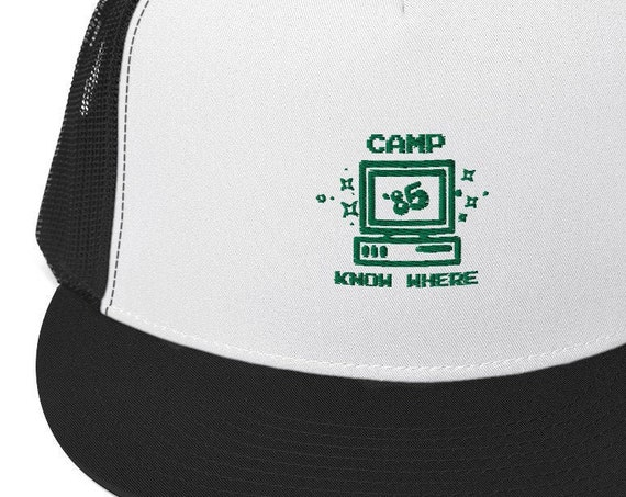 Camp Know Where Hat, Trucker Baseball Cap, Stranger Things Costume, 1985 Summer Camp