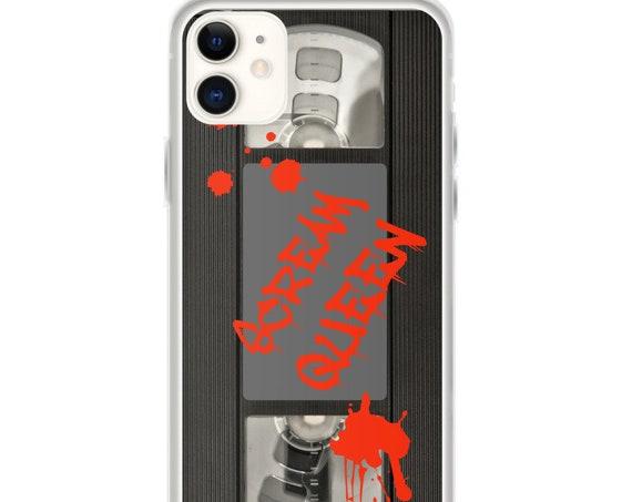Scream Queen Phone Case, Horror Movie Memorabilia, Retro Vhs Tape Cover, iPhone 11, Samsung Galaxy S10
