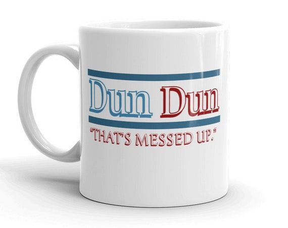 Law and Order SVU Dun Dun Mug, Special Victims Unit, Fin Tutuola Quote, Funny Gift for BFF Crime Junkie
