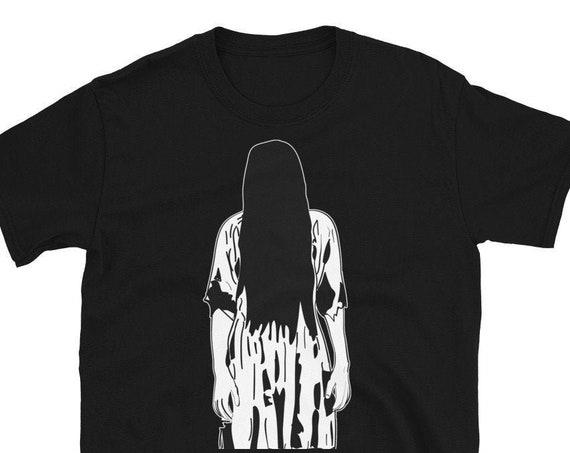 The Ring T Shirt, Samara Horror Movie Graphic Illustration, Unisex Tee Shirts