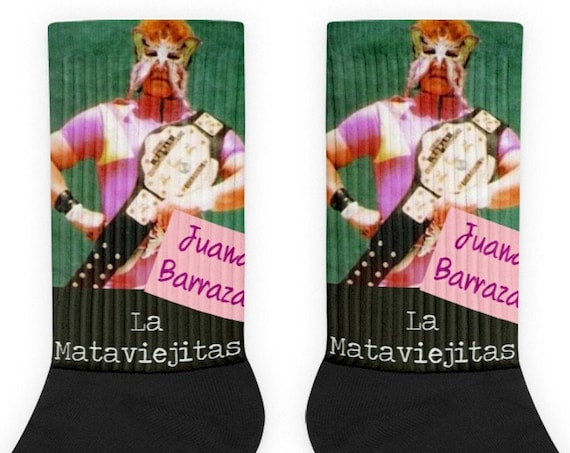 Juana Barraza, Serial Killer Socks, Murderino La Mataviejitas True Crime Novelty Socks Lucha Libre