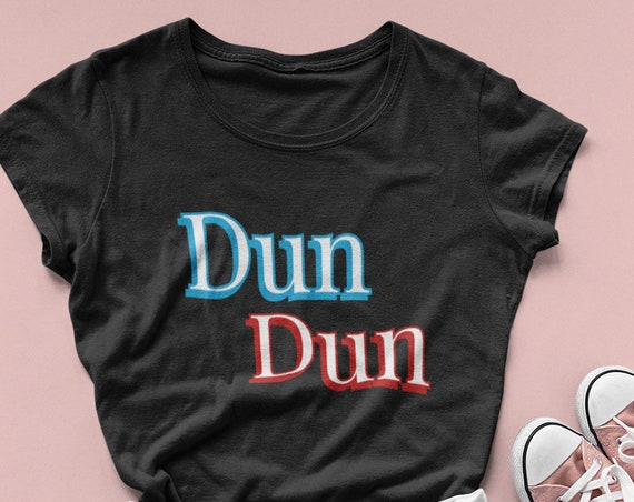 Law and Order Tshirt, Ladies Scoopneck Dun Dun Shirt, Cute Tee in XS - 2XL plus sizes Gifts for SVU Olivia Benson Fandom