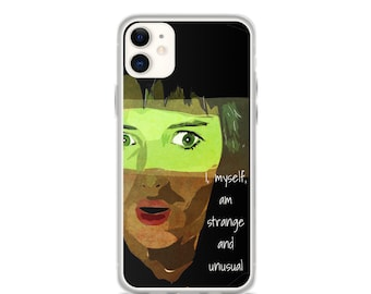 Beetlejuice Phone Case, iPhone 11 12, Samsung s10 s20, Lydia Deetz, Winona Ryder Movie, Strange and Unusual Quote