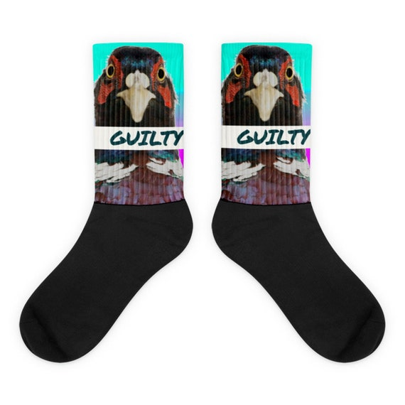 Unpleasant Pheasant Judgement, Weird Socks, Funny Bizarre Criminal Justice Clothing, Lawyer Gifts