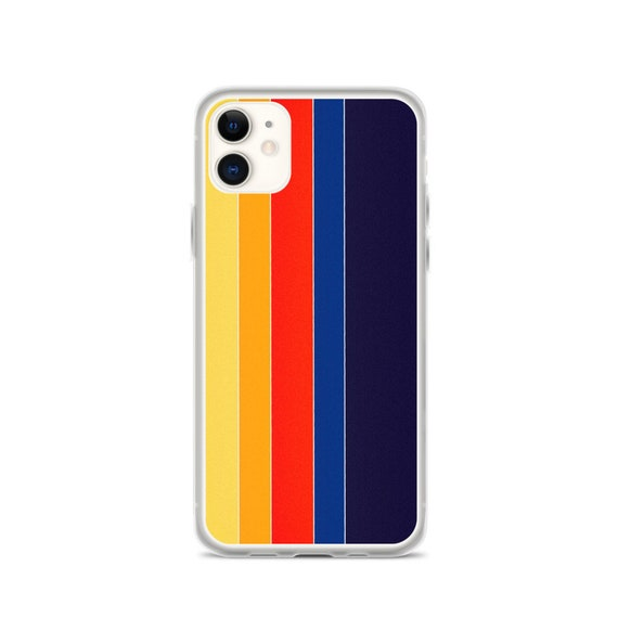 Retro Aesthetic Phone Case, Vintage Color Stripes, iPhone, Samsung Cover