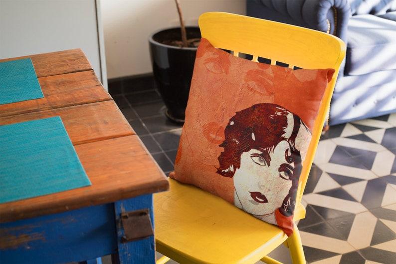 Cute Orange Accent Pillow Chair or Sofa Cushion Fall image 0