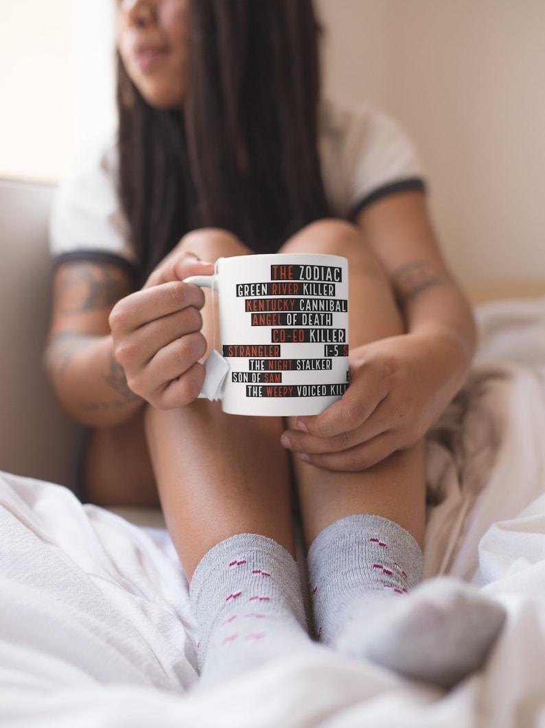 Serial Killer Names True Crime Coffee Mug Detective image 0
