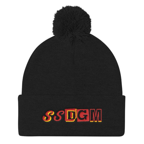 SSDGM Knit Hat, Stay Sexy Cap, Murderinos, Cute Pom Pom, Embroidered, Unisex Fit Colors