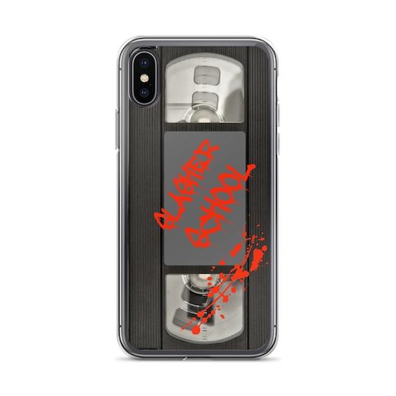 Horror Phone Case, Retro VHS Tape Cover, Aesthetic iPhone B Movie Slasher 1980s AHS